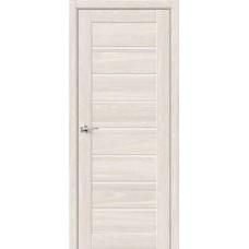 Дверь BRAVO HF Браво-22 ДО Ash White со стеклом Magic Fog