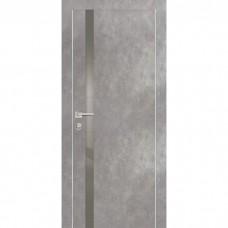 Дверь Profilo Porte PX-8 ДО Серый бетон со стеклом Серый Лакобель