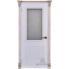 Дверь RegiDoors Итало (Багет 30) ДО Эмаль Белая с патиной капучино