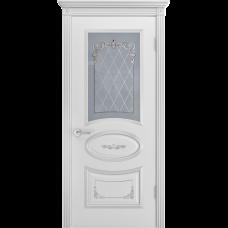 Дверь BP-DOORS Ария Грейс 2 B4  ДО2 Эмаль Белая патина серебро