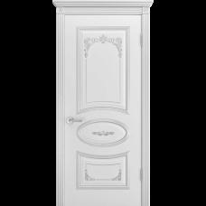 Дверь BP-DOORS Ария Грейс 2 B4  ДГ Эмаль Белая патина серебро