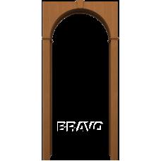 Арка шпонированная BRAVO Ф-11 Орех