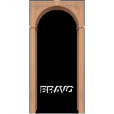 Арка шпонированная BRAVO Муза Ф-01 Дуб