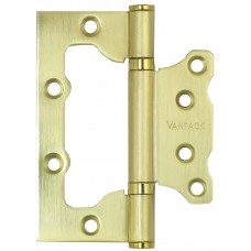 Петля универсальная без врезки Vantage 2BB SB матовое золото