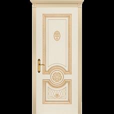 Дверь BP-DOORS Гамма Корона B3 ДГ Эмаль Слоновая кость патина золото