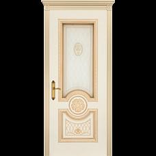 Дверь BP-DOORS Гамма Корона B3 ДО2 Эмаль Слоновая кость патина золото