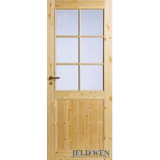 Дверь финская сосновая филенчатая Jeld Wen Tradition 52 прозрачный лак под остекление