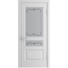 Дверь Luxor L-2 белая эмаль со стеклом