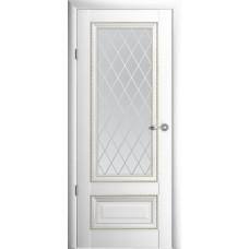 Дверь Verda ALBERO Версаль 1 ДО Белый со стеклом Мателюкс Ромб