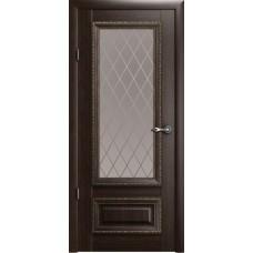 Дверь Verda ALBERO Версаль 1 ДО Орех со стеклом Мателюкс Ромб