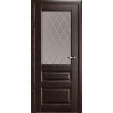 Дверь Verda ALBERO Эрмитаж 2 ДО Орех со стеклом Мателюкс Ромб