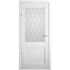 Дверь Verda ALBERO Рим ДО Белый со стеклом Мателюкс Гранд
