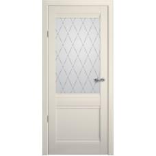 Дверь Verda ALBERO Рим ДО Ваниль со стеклом Мателюкс Гранд
