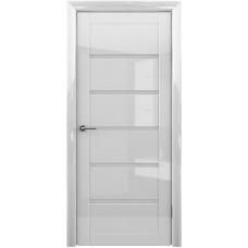 Дверь Verda ALBERO Вена Глянец ДО Белый с матовым стеклом