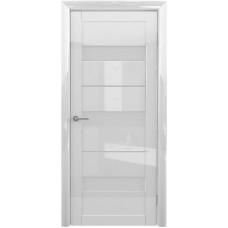 Дверь Verda ALBERO Прага Глянец ДО Белый с матовым стеклом