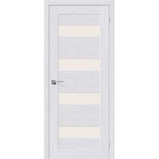 Дверь BRAVO el'PORTA Легно-23 ДО Milk Oak со стеклом Magic Fog