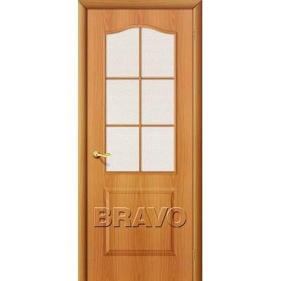 Дверь ламинированная BRAVO Палитра ДО Л-12 Миланский орех со стеклом Хрусталик