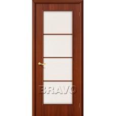 Дверь ламинированная BRAVO 10C ДО Л-11 Итальянский орех со стеклом Сатинато