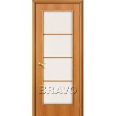 Дверь ламинированная BRAVO 10C ДО Л-12 Миланский орех со стеклом Сатинато