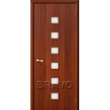 Дверь ламинированная BRAVO 1C ДО Л-11 Итальянский орех со стеклом Сатинато