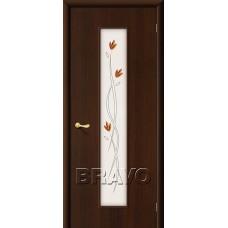 Дверь ламинированная BRAVO 22Х ДО Л-13 Венге со стеклом художественным