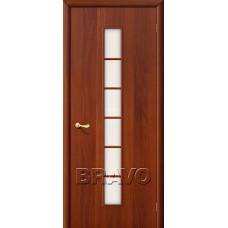 Дверь ламинированная BRAVO 2C ДО Л-11 Итальянский орех со стеклом Сатинато