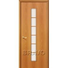 Дверь ламинированная BRAVO 2C ДО Л-12 Миланский орех со стеклом Сатинато