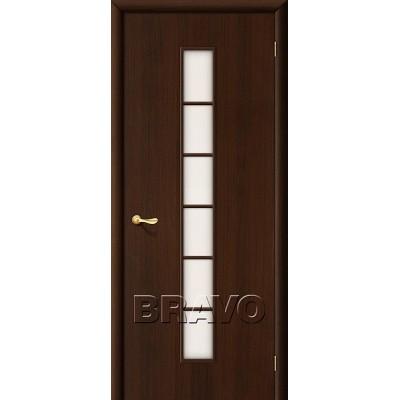 Дверь ламинированная BRAVO 2C ДО Л-13 Венге со стеклом Сатинато