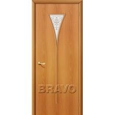 Дверь ламинированная BRAVO 3Х ДО Л-12 Миланский орех со стеклом художественным