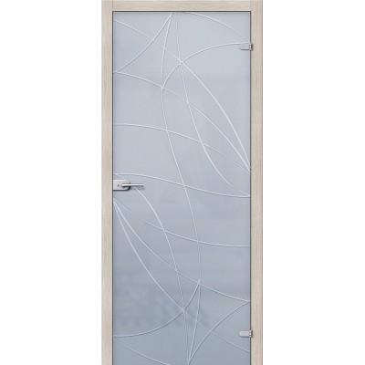 Дверь стеклянная BRAVO Аврора Сатинато белое