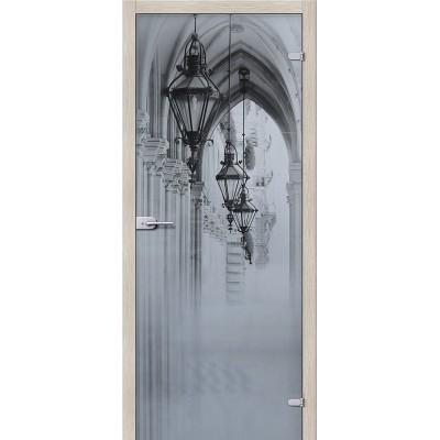 Дверь стеклянная BRAVO Аркада Люкс Сатинато белое