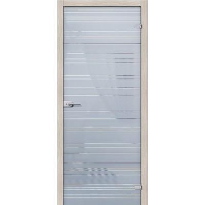 Дверь стеклянная BRAVO Грация Сатинато белое
