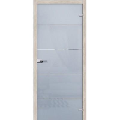 Дверь стеклянная BRAVO Диана Сатинато белое