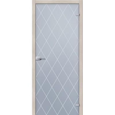 Дверь стеклянная BRAVO Кристалл Сатинато белое