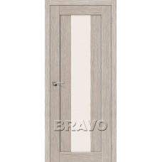 Дверь BRAVO Порта-25 alu 3D Coppuccino CТ-Magic Fog