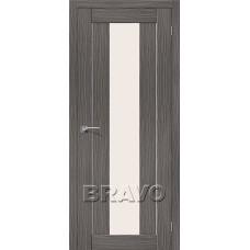 Дверь BRAVO Порта-25 alu 3D Grey CТ-Magic Fog