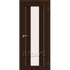 Дверь BRAVO Порта-25 alu 3D Wenge CТ-Magic Fog