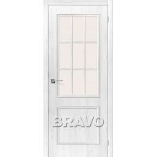 Дверь BRAVO Симпл-13 ДО 3D Shabby Chic со стеклом Magic Fog