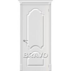 Дверь BRAVO Скинни-32 ДГ П-24 Белый