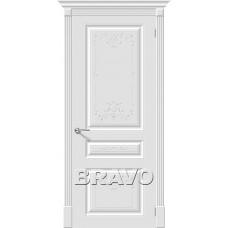 Дверь эмаль BRAVO Скинни-14 Art ДГ Whitey
