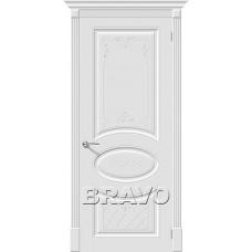 Дверь эмаль BRAVO Скинни-20 Art ДГ Whitey
