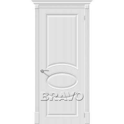 Дверь эмаль BRAVO Скинни-20 ДГ Whitey