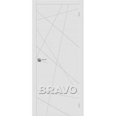 Дверь эмаль BRAVO Скинни-5 ДГ Whitey