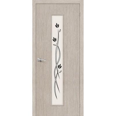 Дверь BRAVO Тренд-14 ДО 3D Cappuccino со стеклом Etude