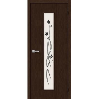 Дверь BRAVO Тренд-14 ДО 3D Wenge со стеклом Etude