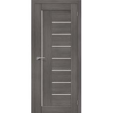 Дверь экошпон BRAVO el'PORTA Порта-29 ДО Grey Veralinga со стеклом Magic Fog