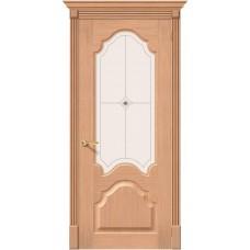 Дверь шпонированная BRAVO Афина ДО Ф-01 Дуб со стеклом художественным