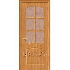 Дверь BRAVO Альфа ДО П-18 Миланский орех со стеклом 118