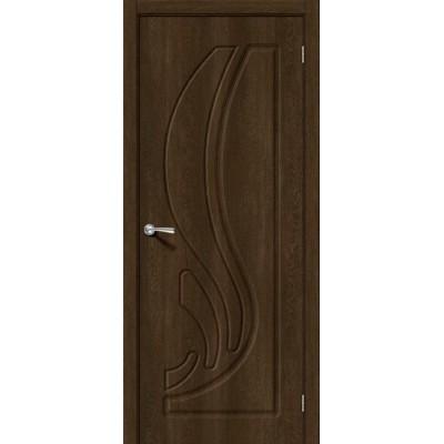 Дверь ПВХ BRAVO Лотос 1 ДГ Dark Barnwood