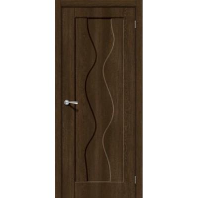 Дверь ПВХ BRAVO Вираж 1 ДГ Dark Barnwood